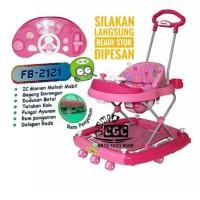 Family Baby Walker Car Stir 2121 Ayun Music PINK Khusus Kurir Gojek