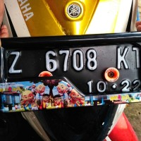 CUSTOM Cover Plat Nomor Motor Gambar Upin Ipin - MURAH BERKUALITAS