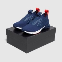 Sepatu Sneakers Reebok Pump Supreme-Blue White Red