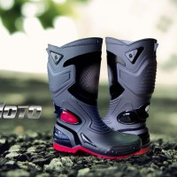 harga Wco8 Sepatu Touring Cross Trail Balap Drag Anti Air Ap Boots Moto 3 M Tokopedia.com