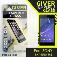 Tempered Glass Giver Sony Xperia M2 Aqua