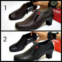harga Sepatu Pantofel Wanita Kickers Woman Kulit Asli - Sepatu Polwan Guru Tokopedia.com