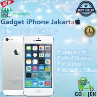 APPLE IPHONE 5 16GB WHITE GARANSI PLATINUM 1THN