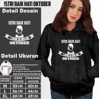 hoodie wanita kekinian ISTRI BAIK HATI LAHIR DI BULAN OKTOBER