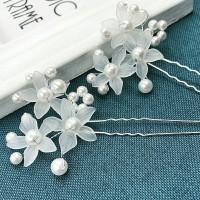 Tusuk Konde Sanggul Hiasan Rambut Pesta bunga putih thumbnail