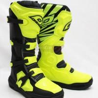 Sepatu Cross/ boots MX Oneal Element MX Black Green Flou / Hitam Hijau