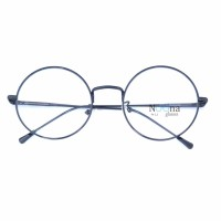 Jual Frame Kacamata Korea Minus Pria Wanita Bulat N003 FBL Full Hitam Murah