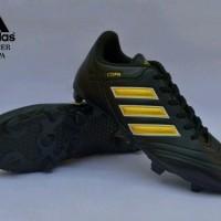 sepatu sepak bola pria adidas copa hitam gold terbaru