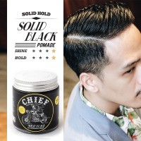 CHIEF POMADE SOLID BLACK WATER BASED 120GR GLASS JAR