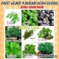 Paket Hemat 9macam Benih Herb Mint Thyme Oregano Dill Parsley Basil