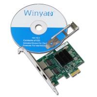 Winyao E575T2 intel gigabit dual port adapter original 82575eb pcie x1