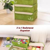 produk alat rumah tangga New 3in1 Underwear Oragnizer (Bahan lebih