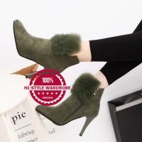 harga Sepatu Ankle Boots Shoes Wanita Korea Elegan Musim Dingin Gugur Heels Tokopedia.com