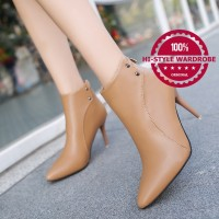 harga Sepatu Ankle Boots Shoes Wanita Korea Elegan Slim Musim Dingin Heels Tokopedia.com