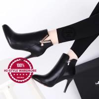 harga Sepatu Ankle Boots Shoes Wanita Korea Elegan Sexy Musim Dingin Heels 3 Tokopedia.com