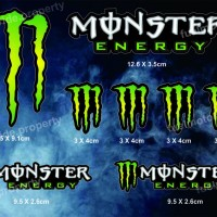 harga Sticker Monster Energy Set Utk Custom Helm Motor Arai Shoei Cbr Ninja Tokopedia.com