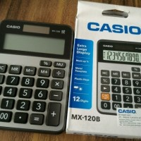 Asli Casio Calculator MX-120B - Kalkulator Meja Office Desktop Murah