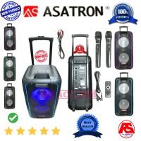 harga Professional Speaker Pa Asatron 10 Inch Double Original Wireless  Mic  Tokopedia.com