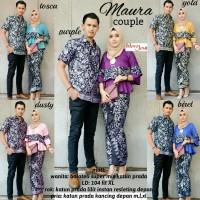 batik couple/batik sarimbit baloteli -prada / batik  pesta maura mawar