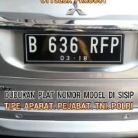 Dudukan Plat Nomor model sisip mdl : Tni, PolRi