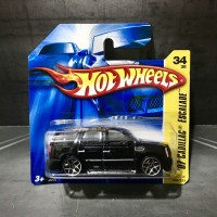 Hot Wheels Cadillac Escalade 2007 Short Card Blister Black