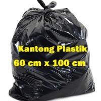 Kantong Plastik Sampah Hitam 60cm x 100cm Plastik Hitam Besar Per-Pak