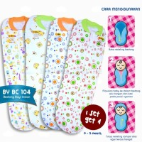 Bedong Bayi Instan BABY LEON New Born 4Pcs 100 % COTTON berkerah BC-10