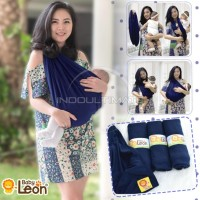 BABY LEON Gendongan Bayi Kaos/Geos/selendang Bayi Praktis NAVY