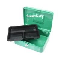 cash box 10 inch hijau krisbow / kotak penyimpanan uang / brankas