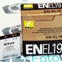 Nikon EN EL 19 Baterai Coolpix S32 S3100 S3200 S4300 S4200 S5200 S6600