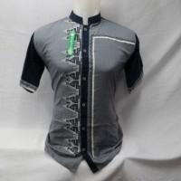 Produsen Baju Koko Pria Muslim Kemeja Lengan Pendek Bordir Baru KWV053