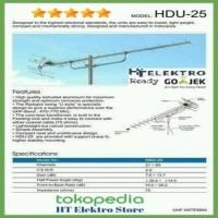 Paket Antena TV Digital Yagi HD U-25 + 1 Tiang + Kabel 10m + Konektor