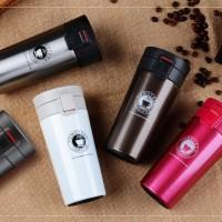 Termos Motif Coffee Model Buka Tutup Pencet Termos Air Panas Dingin