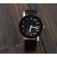 jam wanita Hongc Unique Quartz Analog Leather Strap Watch - A123GI.