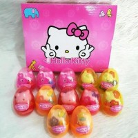 Telur Kejutan Hello Kitty isi 12pcs Surprise Egg