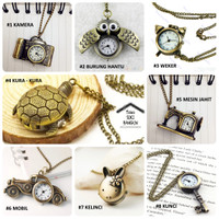 harga Various Pocket Watch Bronze Vintage Pendant Chain Kalung Jam Saku Tokopedia.com