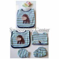 Set Paket Slaber Mitten (Sarung Tangan) Sarung Kaki Bayi dan Topi Bayi