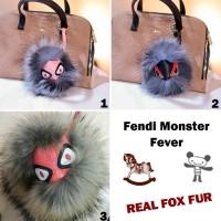 Jual Gantungan kunci - tas FENDI Monster Fever / Karlito / Bulu Rubah / Fox Murah