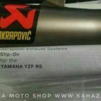AKRAPOVIC SLIP ON TITANIUM FOR YAMAHA R6 ORIGINAL MADE IN SLOVENIA