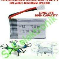 SM477B SYMA X5C LIPO BATTERY 3.7V 750MAH DRONE QUADCOPTER RC BOAT TOY