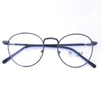 Jual Frame Kacamata Korea Pria Wanita Bulat Minus N007 FBL Full Hitam Murah