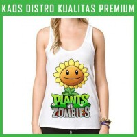 Kaos Tanktop Wanita Plants Vs Zombies 3 TKT-AFL45