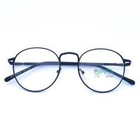 Jual Frame Kacamata Korea Pria Wanita OPPA OP02 FBL Hitam Bulat Fashion Murah