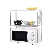 Microwave Oven Stainless Steel Shelf Storage Rack - Rak Penyimpanan