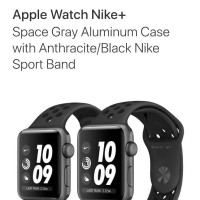 harga Apple Watch Series 3 Nike+ 42mm Grey Black Bnib Tokopedia.com