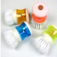 Jual Alat sikat panci inovatif dispenser sabun cair brush so Diskon Murah