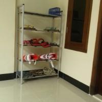 alat rumah tangga  Rak Sepatu Aluminium 5 Susun termurah