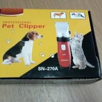 Cukuran Hewan Bulu Kucing dan Anjing - Pet Clipper Sonar SN-270A