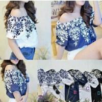 Baju Fashion Blouse Dress Wanita Online / Sabrina Printing #28