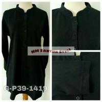Jual Bigsize - Atasan Wanita Kaos Polo G-P39-1419 Hitam Murah